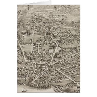 Mapa ilustrado del vintage de Newton mA (1878) Tarjeta De Felicitación