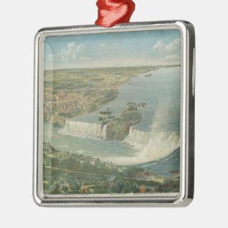 Mapa ilustrado del vintage de Niagara Falls NY (18 Ornamento Para Reyes Magos