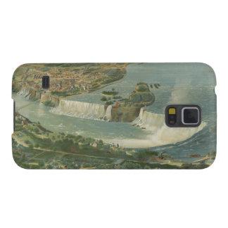 Mapa ilustrado del vintage de Niagara Falls NY (18 Fundas Para Galaxy S5