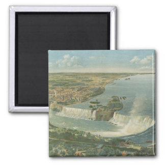 Mapa ilustrado del vintage de Niagara Falls NY (18 Imán De Nevera