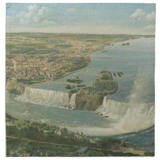 Mapa ilustrado del vintage de Niagara Falls NY (18 Servilletas Imprimidas