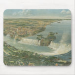 Mapa ilustrado del vintage de Niagara Falls NY (18 Alfombrillas De Ratones