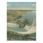 Mapa ilustrado del vintage de Niagara Falls NY (18 Tarjeta Postal