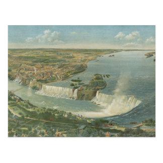 Mapa ilustrado del vintage de Niagara Falls NY (18 Tarjetas Postales