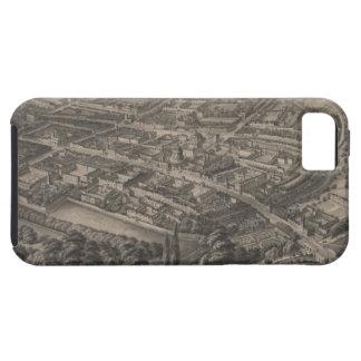 Mapa ilustrado del vintage de Oxford Inglaterra 1 iPhone 5 Case-Mate Protector