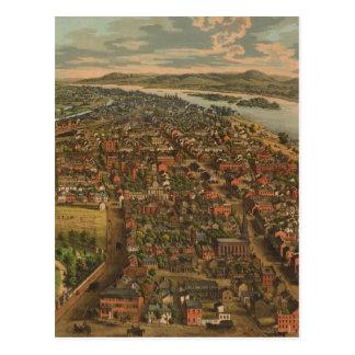 Mapa ilustrado del vintage de PA de Harrisburg (18 Tarjetas Postales