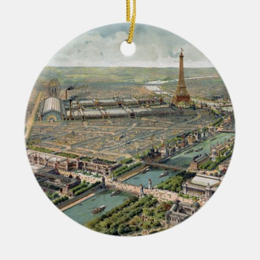 Mapa ilustrado del vintage de París (1900) Ornamentos Para Reyes Magos