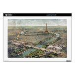 Mapa ilustrado del vintage de París (1900) 43,2cm Portátil Calcomanías