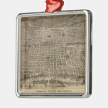 Mapa ilustrado del vintage de Philadelphia (1872) Ornamento Para Arbol De Navidad