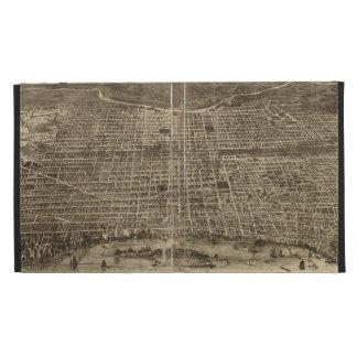 Mapa ilustrado del vintage de Philadelphia 1872