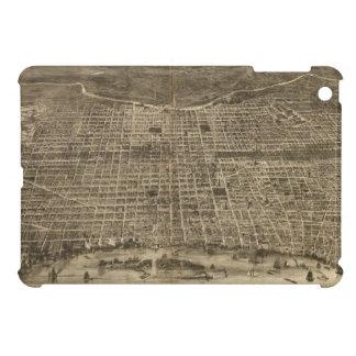 Mapa ilustrado del vintage de Philadelphia 1872 iPad Mini Cárcasa