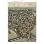 Mapa ilustrado del vintage de Pittsburgh (1902) Tarjetas