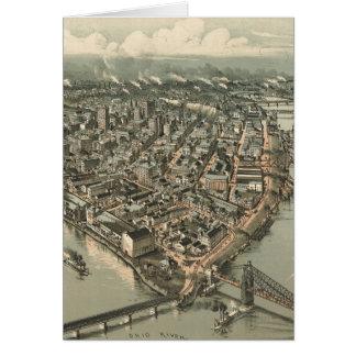 Mapa ilustrado del vintage de Pittsburgh (1902) Tarjeta De Felicitación