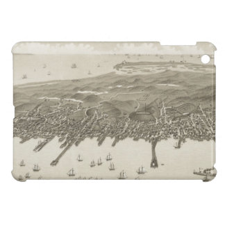 Mapa ilustrado del vintage de Provincetown (1882) iPad Mini Carcasa