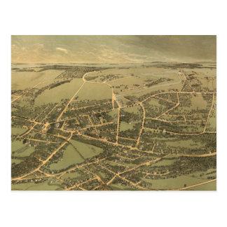 Mapa ilustrado del vintage de Quincy (1877) Postales