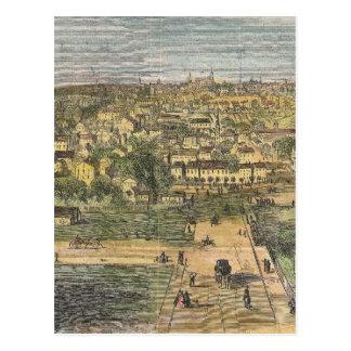 Mapa ilustrado del vintage de Richmond Virginia Tarjetas Postales