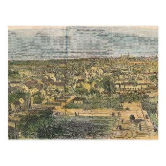 Mapa ilustrado del vintage de Richmond Virginia Tarjeta Postal