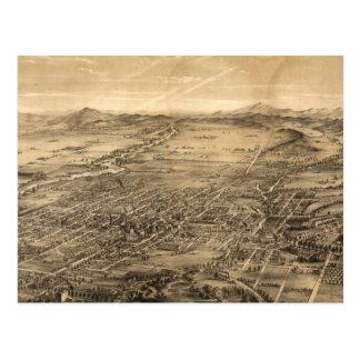 Mapa ilustrado del vintage de San Jose CA (1869) Postales