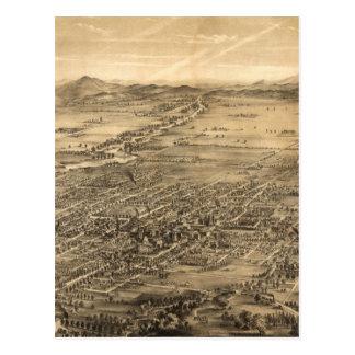 Mapa ilustrado del vintage de San Jose CA (1869) Tarjetas Postales