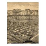 Mapa ilustrado del vintage de Santa Barbara CA (18 Tarjeta Postal