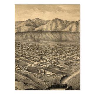 Mapa ilustrado del vintage de Santa Barbara CA Postal