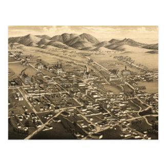 Mapa ilustrado del vintage de Santa Fe (1882) Tarjetas Postales