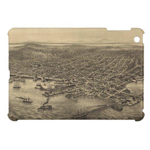 Mapa ilustrado del vintage de Seattle (1878) iPad Mini Protector