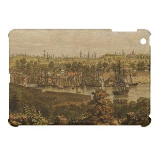 Mapa ilustrado del vintage de Victoria Vancouver iPad Mini Cárcasas