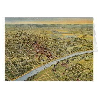Mapa ilustrado del vintage de Waco Tejas (1892) Tarjeta De Felicitación