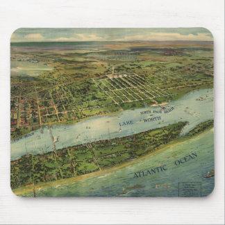 Mapa ilustrado del vintage de West Palm Beach (191 Mousepads