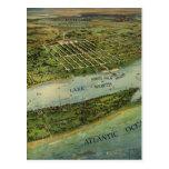 Mapa ilustrado del vintage de West Palm Beach (191 Postales
