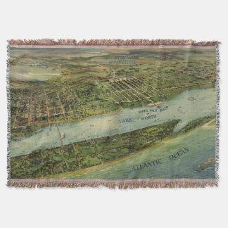Mapa ilustrado del vintage de West Palm Beach Manta