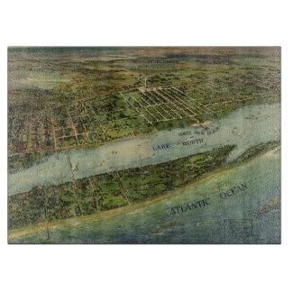 Mapa ilustrado del vintage de West Palm Beach Tablas De Cortar
