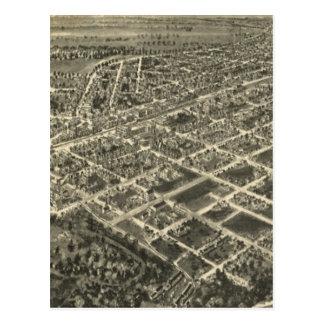 Mapa ilustrado del vintage del soporte rocoso NC ( Postales