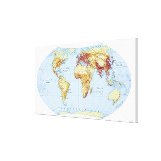 Mapa ilustrado impresión de lienzo