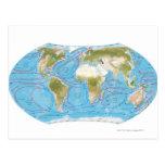 Mapa ilustrado postales