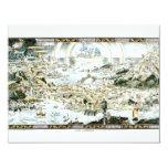 Mapa imaginario del Fairyland de 1920 obras Invitación 10,8 X 13,9 Cm