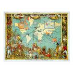 Mapa imperial de la federación del mundo Showi Tarjetas Postales