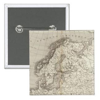 Mapa incoloro de Europa Pins