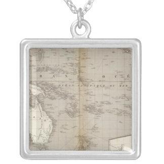 Mapa incoloro de Oceanía Grimpola