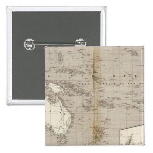 Mapa incoloro de Oceanía Pins