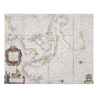 MAPA: INDIES DEL ESTE, 1670 CUADRO