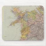 Mapa Inglaterra, País de Gales 3 de la línea divis Alfombrillas De Raton