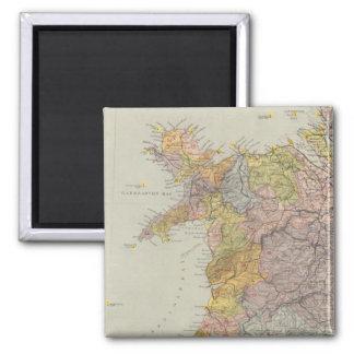 Mapa Inglaterra, País de Gales 3 de la línea divis Imán Cuadrado