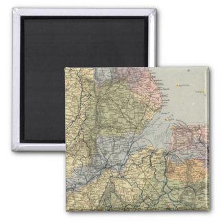Mapa Inglaterra, País de Gales 4 de la línea divis Imán Cuadrado