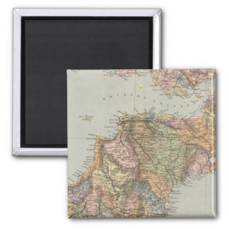 Mapa Inglaterra, País de Gales 5 de la línea divis Imán Cuadrado