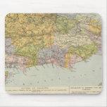 Mapa Inglaterra, País de Gales 6 de la línea divis Mouse Pads