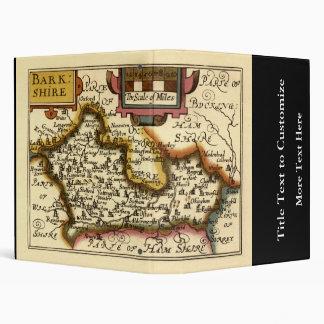 """Mapa inglés viejo del condado por la velocidad de carpeta 1"""""""