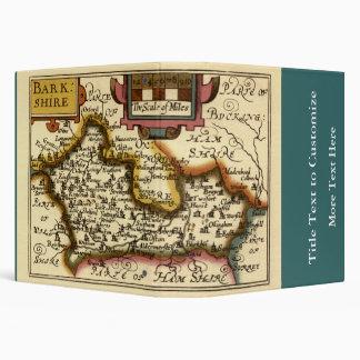 """Mapa inglés viejo del condado por la velocidad de carpeta 1 1/2"""""""