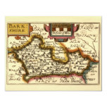 Mapa inglés viejo del condado por la velocidad de invitación 10,8 x 13,9 cm